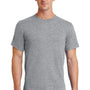 Port & Company Mens Essential Short Sleeve Crewneck T-Shirt - Heather Grey