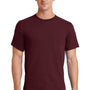 Port & Company Mens Essential Short Sleeve Crewneck T-Shirt - Athletic Maroon