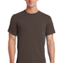 Port & Company Mens Essential Short Sleeve Crewneck T-Shirt - Brown
