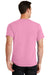 Port & Company PC61 Mens Essential Short Sleeve Crewneck T-Shirt Candy Pink Back