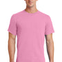 Port & Company Mens Essential Short Sleeve Crewneck T-Shirt - Candy Pink
