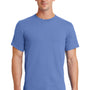 Port & Company Mens Essential Short Sleeve Crewneck T-Shirt - Carolina Blue