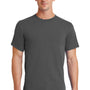 Port & Company Mens Essential Short Sleeve Crewneck T-Shirt - Charcoal Grey