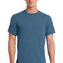 Port & Company Mens Essential Short Sleeve Crewneck T-Shirt - Colonial Blue
