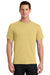 Port & Company PC61 Mens Essential Short Sleeve Crewneck T-Shirt Daffodil Yellow Front