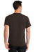 Port & Company PC61 Mens Essential Short Sleeve Crewneck T-Shirt Chocolate Brown Back