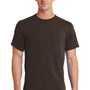 Port & Company Mens Essential Short Sleeve Crewneck T-Shirt - Dark Chocolate Brown