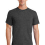 Port & Company Mens Essential Short Sleeve Crewneck T-Shirt - Heather Dark Grey