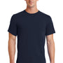 Port & Company Mens Essential Short Sleeve Crewneck T-Shirt - Deep Navy Blue