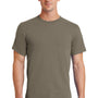 Port & Company Mens Essential Short Sleeve Crewneck T-Shirt - Dusty Brown