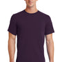 Port & Company Mens Essential Short Sleeve Crewneck T-Shirt - Eggplant Purple