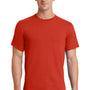 Port & Company Mens Essential Short Sleeve Crewneck T-Shirt - Fiery Red
