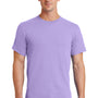 Port & Company Mens Essential Short Sleeve Crewneck T-Shirt - Lavender Purple