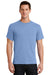 Port & Company PC61 Mens Essential Short Sleeve Crewneck T-Shirt Light Blue Front