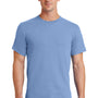 Port & Company Mens Essential Short Sleeve Crewneck T-Shirt - Light Blue