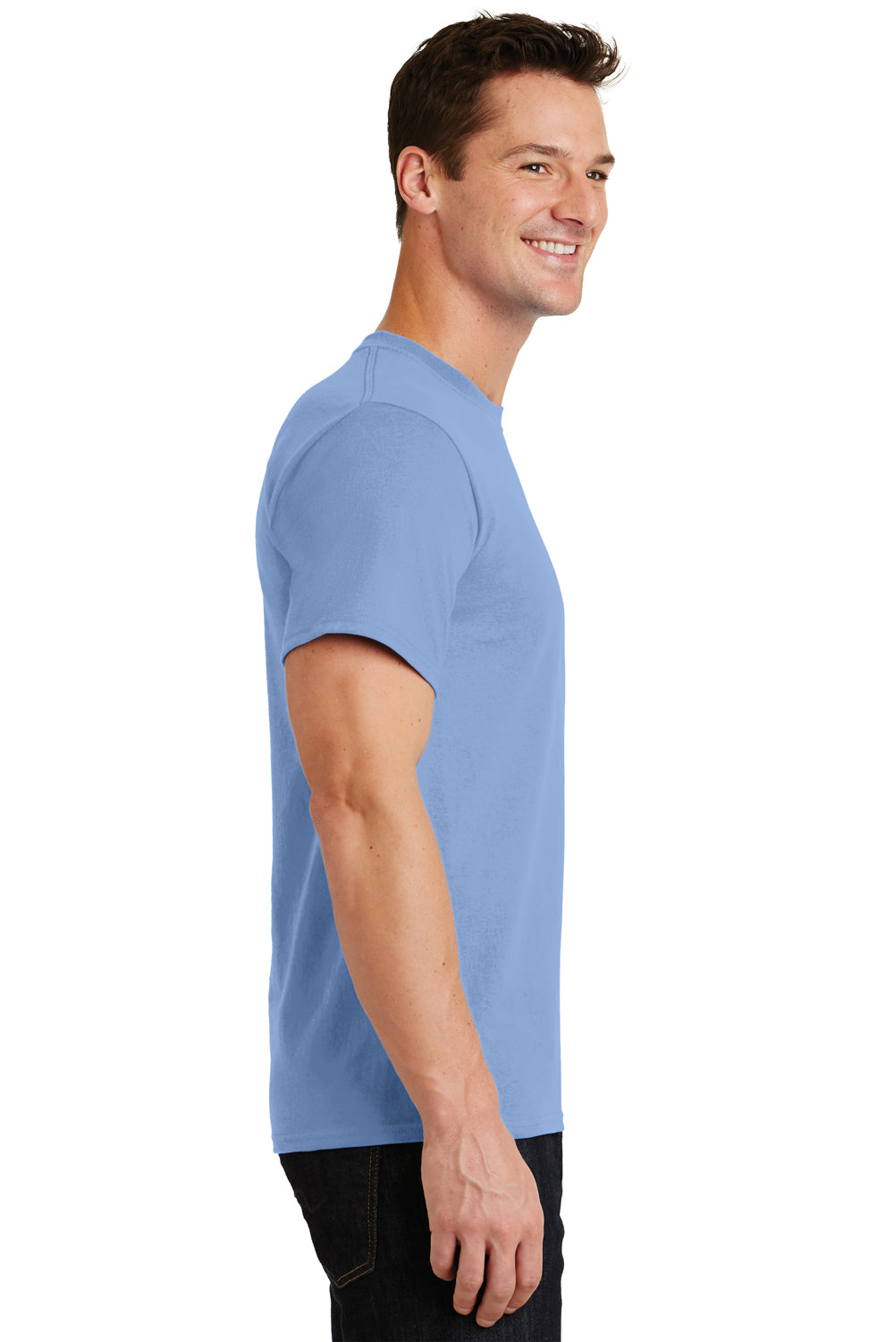 Port & Company PC61 Mens Essential Short Sleeve Crewneck T-Shirt Light Blue Side