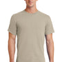 Port & Company Mens Essential Short Sleeve Crewneck T-Shirt - Light Sand
