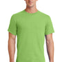 Port & Company Mens Essential Short Sleeve Crewneck T-Shirt - Lime Green