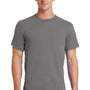 Port & Company Mens Essential Short Sleeve Crewneck T-Shirt - Medium Grey
