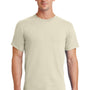 Port & Company Mens Essential Short Sleeve Crewneck T-Shirt - Natural