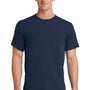 Port & Company Mens Essential Short Sleeve Crewneck T-Shirt - Navy Blue