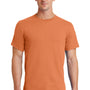 Port & Company Mens Essential Short Sleeve Crewneck T-Shirt - Orange Sherbet
