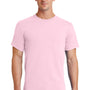Port & Company Mens Essential Short Sleeve Crewneck T-Shirt - Pale Pink