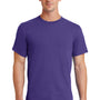 Port & Company Mens Essential Short Sleeve Crewneck T-Shirt - Purple