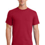 Port & Company Mens Essential Short Sleeve Crewneck T-Shirt - Red