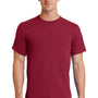 Port & Company Mens Essential Short Sleeve Crewneck T-Shirt - Rich Red