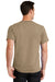 Port & Company PC61 Mens Essential Short Sleeve Crewneck T-Shirt Sand Brown Back