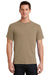 Port & Company PC61 Mens Essential Short Sleeve Crewneck T-Shirt Sand Brown Front