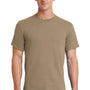 Port & Company Mens Essential Short Sleeve Crewneck T-Shirt - Sand