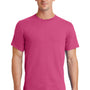 Port & Company Mens Essential Short Sleeve Crewneck T-Shirt - Sangria Pink