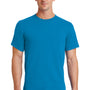 Port & Company Mens Essential Short Sleeve Crewneck T-Shirt - Sapphire Blue