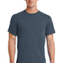Port & Company Mens Essential Short Sleeve Crewneck T-Shirt - Steel Blue