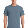 Port & Company Mens Essential Short Sleeve Crewneck T-Shirt - Stonewashed Blue