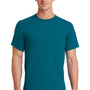 Port & Company Mens Essential Short Sleeve Crewneck T-Shirt - Teal Green