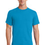 Port & Company Mens Essential Short Sleeve Crewneck T-Shirt - Turquoise Blue