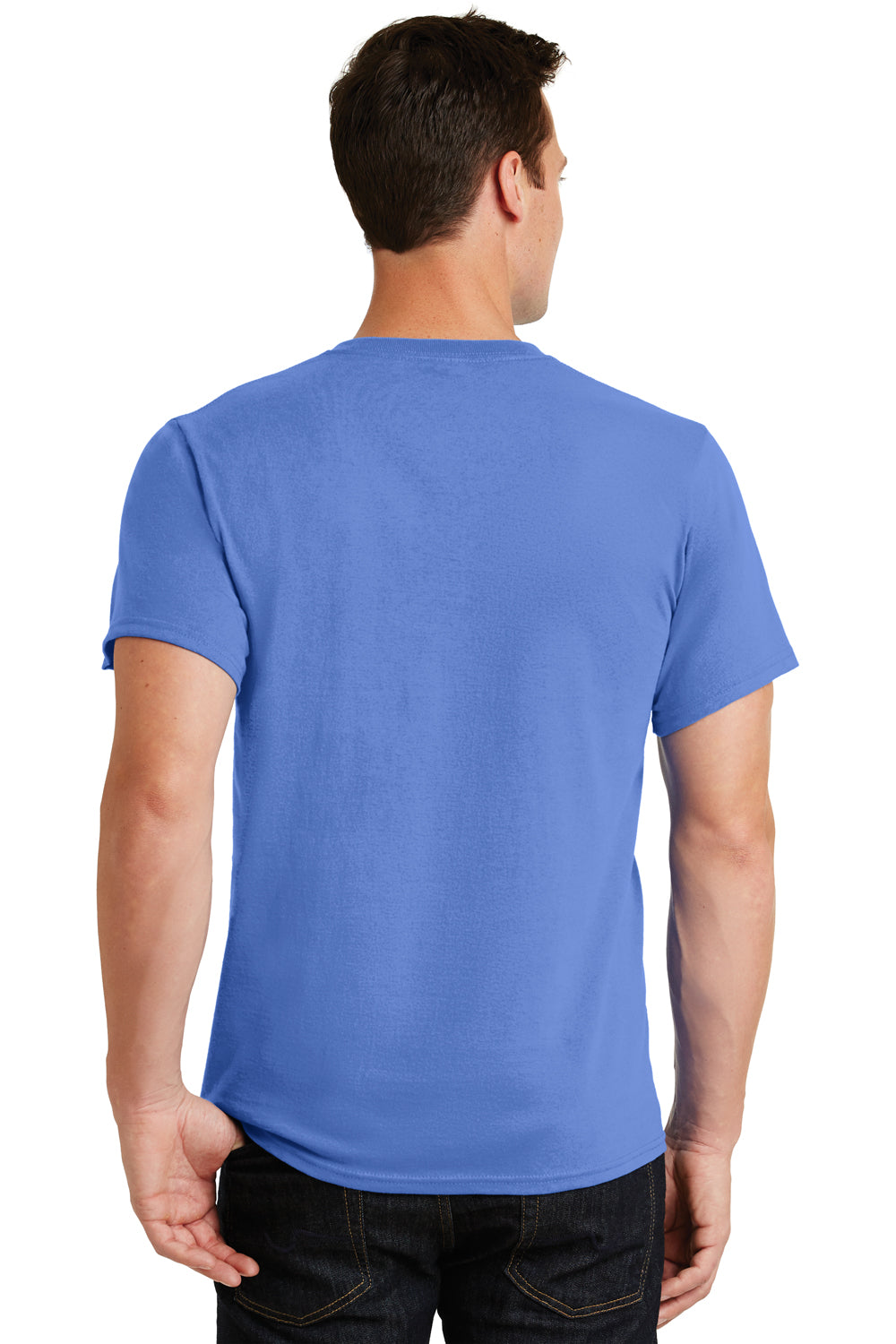 Port & Company PC61 Mens Essential Short Sleeve Crewneck T-Shirt Ultramarine Blue Back
