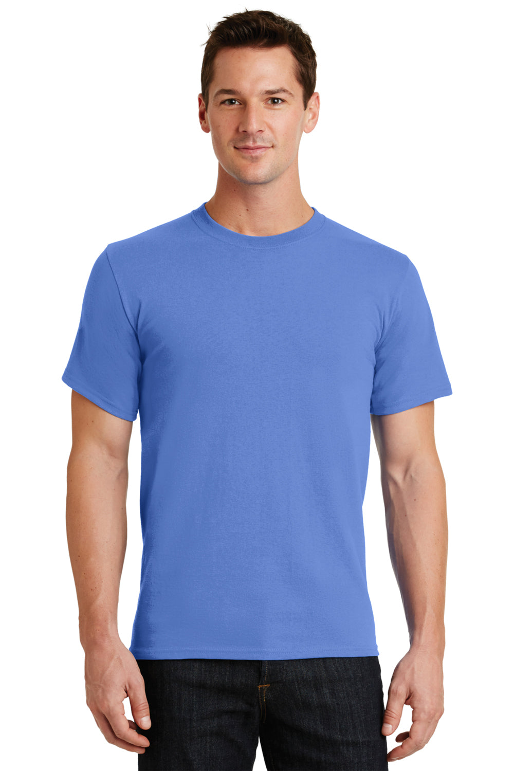 Port & Company PC61 Mens Essential Short Sleeve Crewneck T-Shirt Ultramarine Blue Front