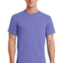 Port & Company Mens Essential Short Sleeve Crewneck T-Shirt - Violet Purple