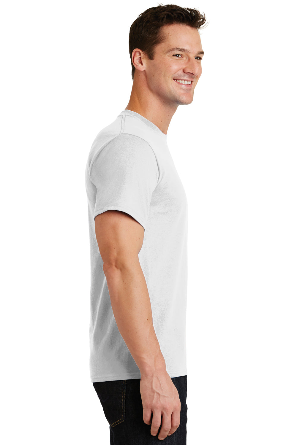 Port & Company PC61 Mens Essential Short Sleeve Crewneck T-Shirt White Side
