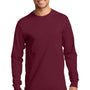 Port & Company Mens Essential Long Sleeve Crewneck T-Shirt - Cardinal Red