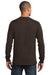 Port & Company PC61LS Mens Essential Long Sleeve Crewneck T-Shirt Chocolate Brown Back