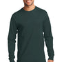 Port & Company Mens Essential Long Sleeve Crewneck T-Shirt - Dark Green