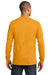 Port & Company PC61LS Mens Essential Long Sleeve Crewneck T-Shirt Gold Back