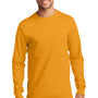 Port & Company Mens Essential Long Sleeve Crewneck T-Shirt - Gold