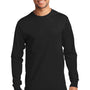Port & Company Mens Essential Long Sleeve Crewneck T-Shirt - Jet Back