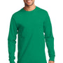 Port & Company Mens Essential Long Sleeve Crewneck T-Shirt - Kelly Green